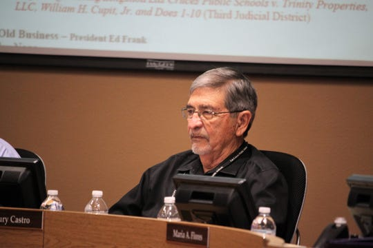 Las Cruces Board of Education member Maury Castro during the school board meeting on Tuesday, September 3, 2019.