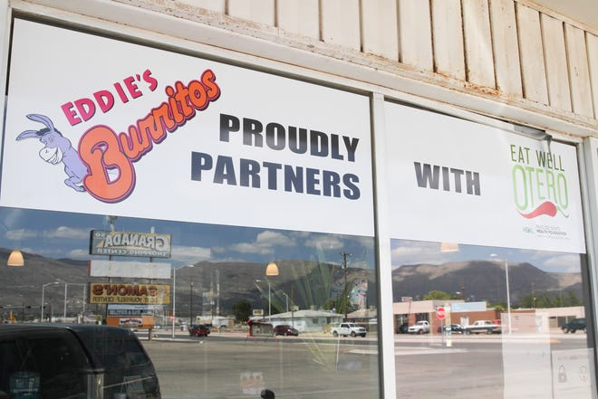 Eat Well Otero is working with Eddie's Burritos, seen above, and other restaurants to bring healthier dining options to Alamogordo.