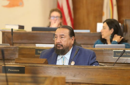 Delegate Raymond Smith Jr. sponsored the bill for the fiscal year 2020 comprehensive budget on Sept. 4 in Window Rock, Arizona.
