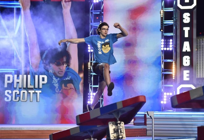 "Plymouth resident Philip Scott competed on NBC's ""American Ninja Warrior"" show last month."