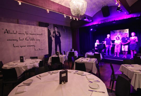 Purple Room in the Trinidad Hotel, where Johnny Costa used to work and where Sinatra threw several temper tantrums.
