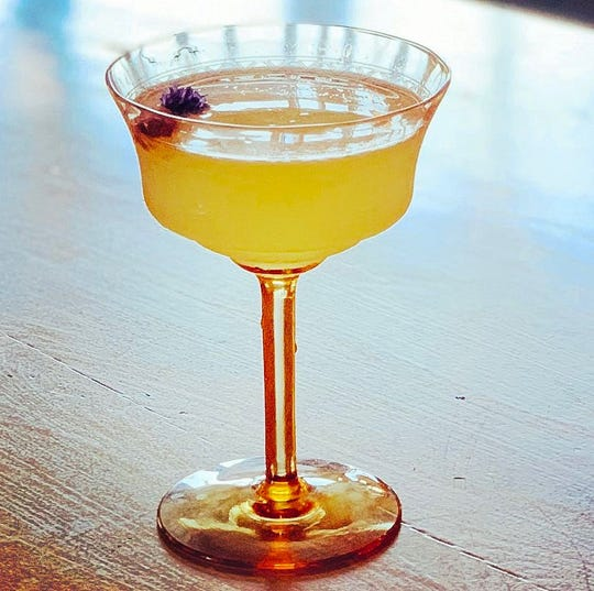 Ava's Garden, crafted at Cypress on West Garden Stret, is a gin-based drink that includes grapefruit cordial, lime and Prosecco.