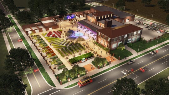 A rendering shows what a restored Hygeia Coca-Cola bottling building on North Palafox Street would look like if Keep Pensacola Beautiful was able to buy the building.