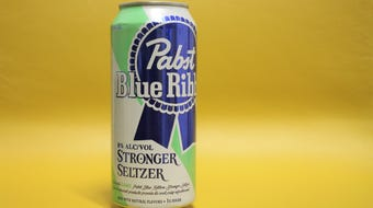 Arizona Republic dining editor Lauren Saria samples Pabst Blue Ribbon's Stronger Seltzer and Hard Coffee.