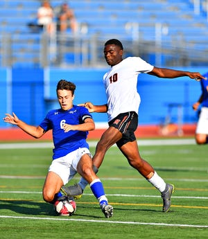 Northeastern's Alex Afata, seen here in a file photo at right, has led the Bobcats to a 6-0 start in 2020. Afata has nine goals and three assists on the season.