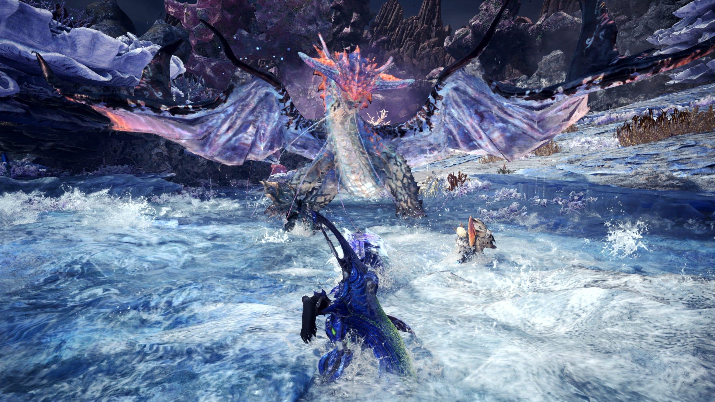The water Elder Dragon Namielle in Monster Hunter World Iceborne.