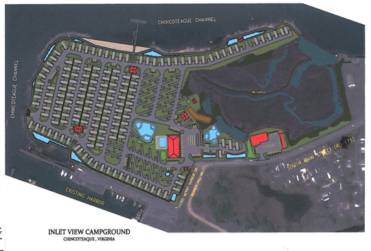 Plans to redevelop the Inlet View Campground in Chincoteague, Virginia were shown to the Chincoteague Town Council on Tuesday, Sept. 3, 2019.