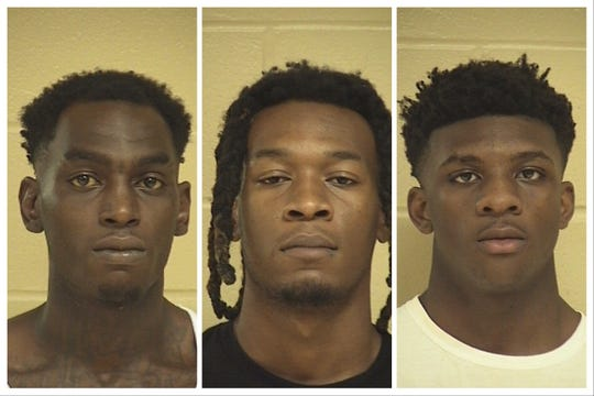From left to right: Cortez Hines, Jacody Wilson and Carl McClinton.