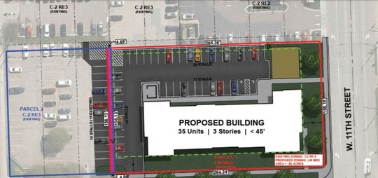 Lloyd Cos. plans to build a 35-unit, three story apartment at the corner of 11th Street and Spring Avenue.