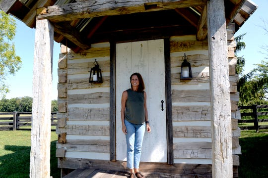 "An Augusta County couple who own the wedding venue Red August Farm appeared on the TV show ""Barnwood Builders"" this past weekend. Pictured here is co-owner Debbie Battle."