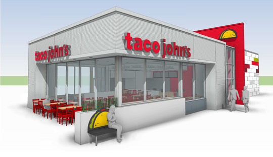 A rendering of the new Taco John's planned in Stevens Point