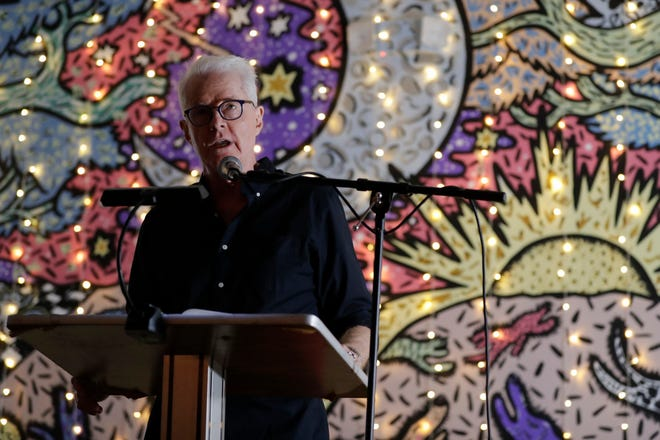 """Florida State University Professor and Poet David Kirby reads from his new poetry book """"More Than This"""" at The Bark Tuesday, Sept. 4, 2019."""