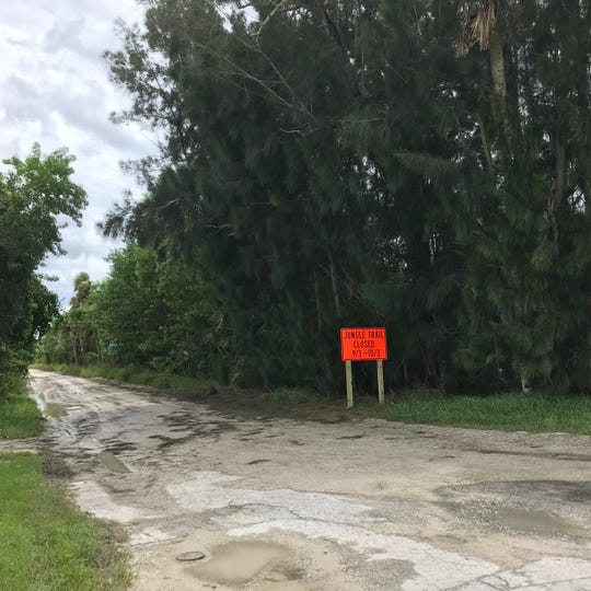 South Jungle Trail is closed through Oct. 3