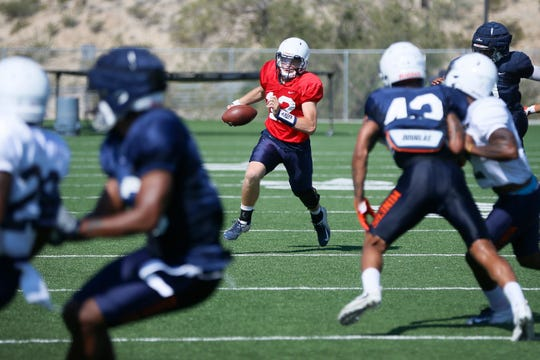 UTEP practice Wednesday, Sept. 4, at Glory Field in El Paso.