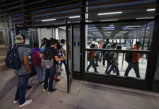Cross-border students commute to school through the new $85.6 million port of entry between Palomas, Mexico and Columbus, New Mexico.
