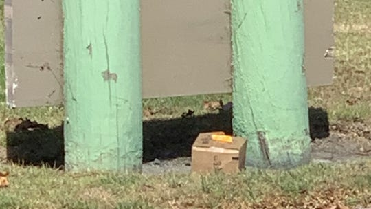 This suspicious box in front of Port Hueneme City Hall contained a plant, according to police.