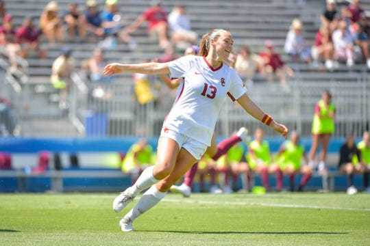 Newbury Park High graduate Tara McKeown was named United Soccer Coaches National Player of the Week after scoring six goals in USC women's soccer's first four matches.