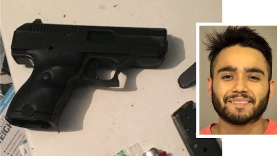 Eduardo Morales was arrested and this gun with an altered serial number was seized in Fillmore, according to authorities.