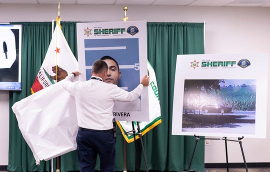 Tulare County Sheriff Mike Boudreaux announced Wednesday, September 4, 2019 the arrest of suspected shooter Jorge Rivera in the killing of Tony Dragt at the Pete Dragt and Sons Dairy on Tuesday. Rivera was arrested Wednesday morning.