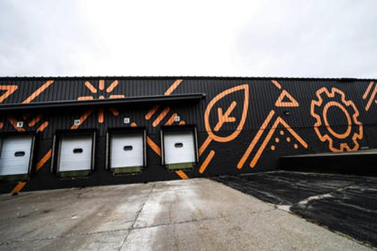 A mural on the outside of the Rocket Industrial building in the Wausau Industrial Park.