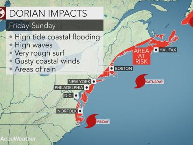 Hurricane Dorian could bring rainy weather to New York