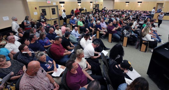 An overflow crowd attended a meeting of the Rockland County Legislature in New City Sept. 3, 2019.