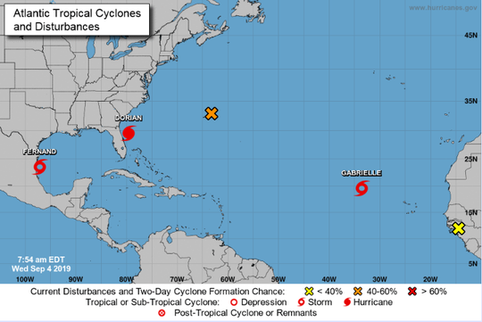 Hurricane Dorian is the largest threat in the Atlantic Ocean right now, but hurricane season's peak is bringing a lot of activity in September.