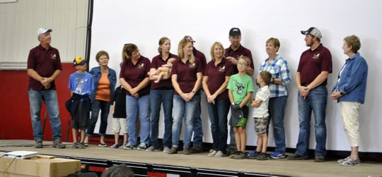 The Peirick family at T&R Dairy in Dodge County for their community leadership and outstanding land stewardship at the 2019 Conservation Observance Day.