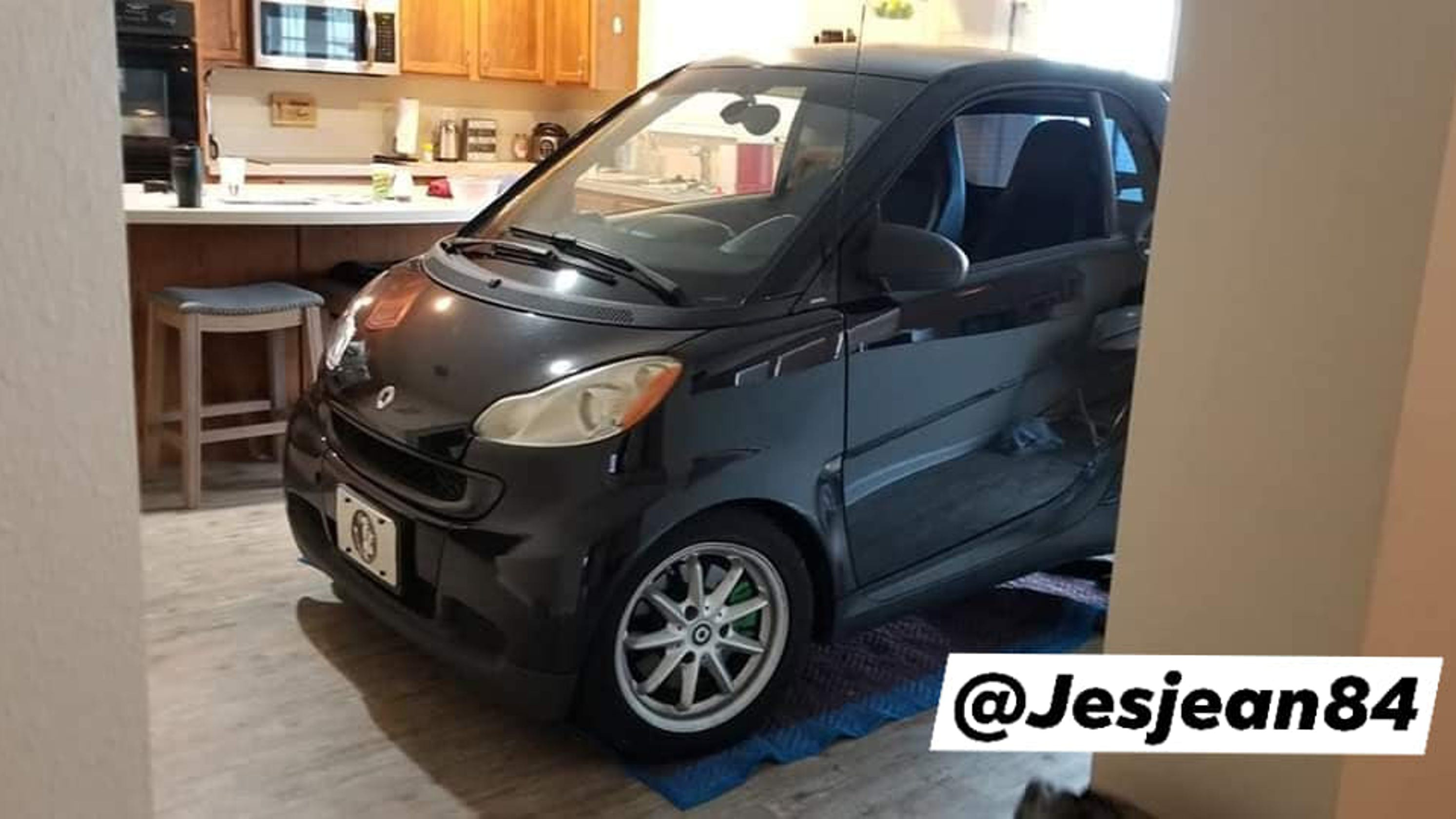 Image result for Florida Man Parks His 'Smart' Car In The Kitchen So The Hurricane Won't It Blow Away
