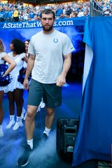 Indianapolis Colts quarterback Andrew Luck retires Aug. 24, 2019.