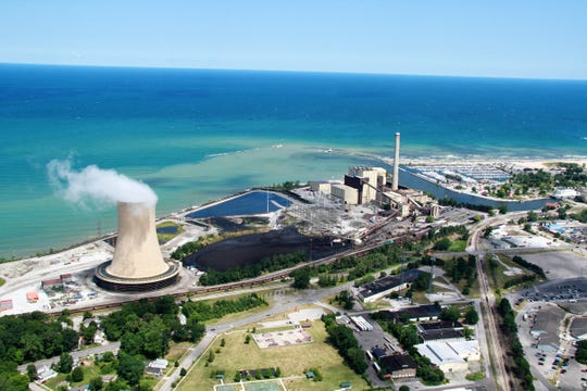 The Michigan City generating station in Michigan City, Indiana that will be closed by 2028. Run by the Northern Indiana Public Service Company, the site contains one of the utility's five remaining coal-fired generating units. The electricity generated by the plant will be replaced with wind, solar and battery storage, according to the utility.