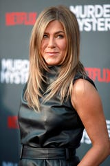 "Jennifer Aniston attends the Los Angeles premiere of ""Murder Mystery"" on June 10, 2019 in Westwood, Calif."