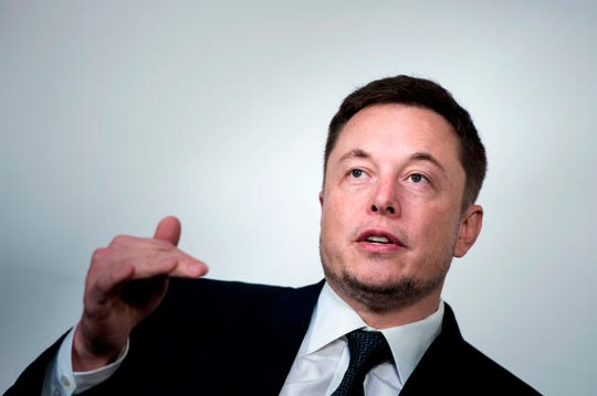 In this file photo taken on July 19, 2017 Elon Musk, CEO of SpaceX and Tesla, speaks during the International Space Station Research and Development Conference at the Omni Shoreham Hotel in Washington, DC.