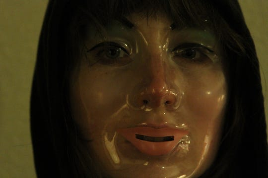 "Kate Lyn Sheil plays a mysterious woman messing up a couple's second honeymoon in the anthology ""V/H/S."""
