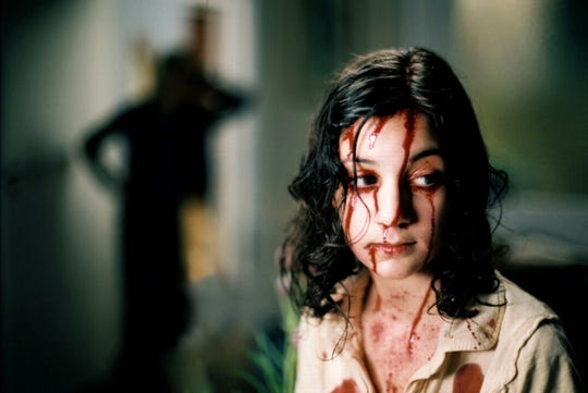 "Lina Leandersson plays a vampire girl in the Swedish film ""Let the Right One In."""