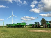 A wind turbine owned by Pattern Energy in Fowler, Indiana.
