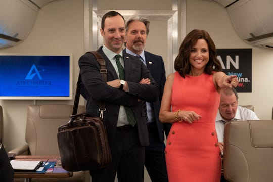 """Tony Hale, left, played loyal lap dog and assistant Gary to former president Selina Meyer (Julia Louis-Dreyfus) for seven seasons of HBO's """"Veep."""""""