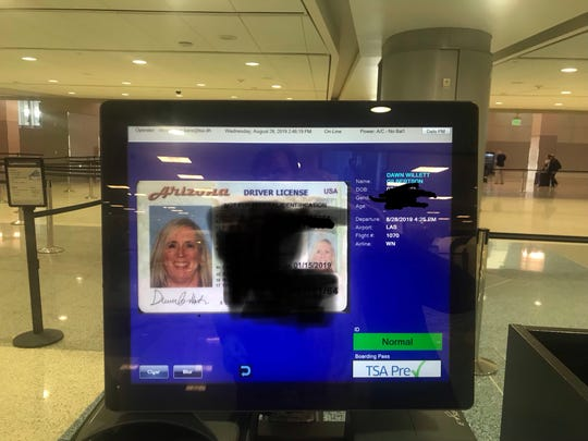 Travelers going through a new security checkpoint at McCarran International Airport in Las Vegas have their flight information verified by computer instead of boarding pass.  Agents scan your ID and it shows whether you have a ticket to fly that day and whether you have TSA PreCheck.