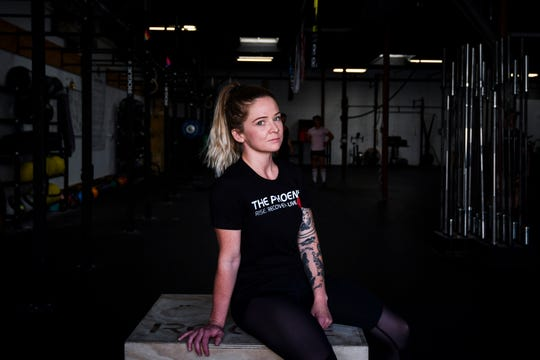 Tess Ford was addicted to opioids, alcohol and other drugs before she did in-patient treatment and started working out at The Phoenix nine months ago. She's now a volunteer rock climbing instructor and is working to get her yoga teaching certification.