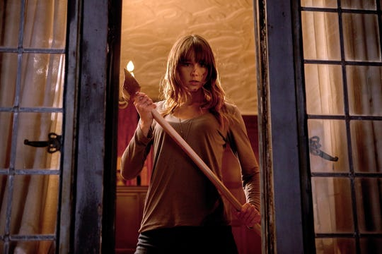 "Sharni Vinson isn't your average horror-movie victim in ""You're Next."""