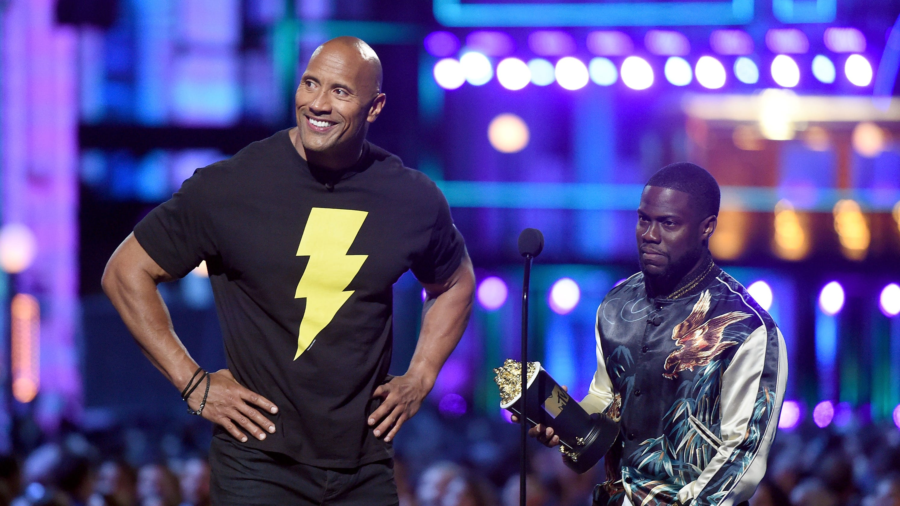 Dwayne Johnson leaves honeymoon to fill in for injured Kevin Hart