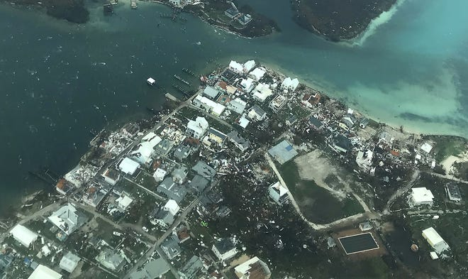 Damage from Hurricane Dorian on Abaco Island on Sept. 3, 2019, in the Bahamas.