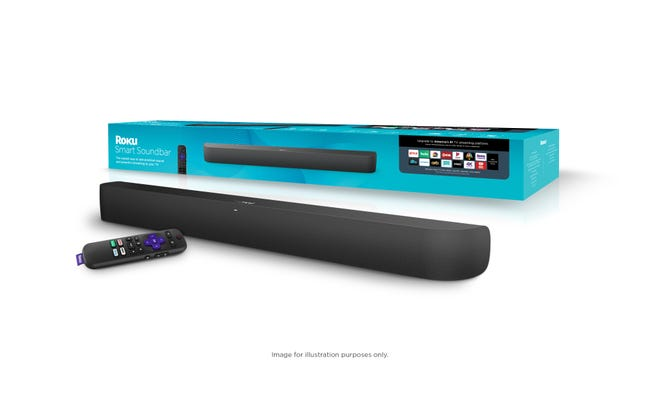 The Roku Smart Soundbar ($179.99, out in October) improves on your TV's sound and has a built-in Roku streaming media player that provides 4K video with high dynamic range (HDR) for improved contrast and a wider range of richer colors.