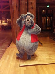 Big Al visits Wilderness Lodge as guests waited out Hurricane Dorian. Characters rarely visit Disney resorts to have casual meetings with guests.