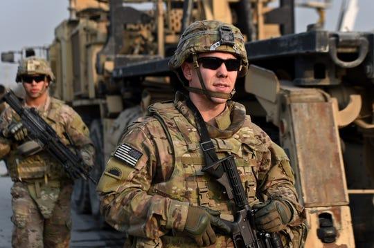 U.S. soldiers in Kabul, Afghanistan, in  2015.