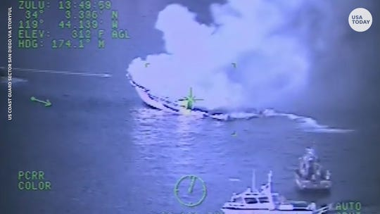 Coast Guard issues warning on charging phone batteries after California boat fire