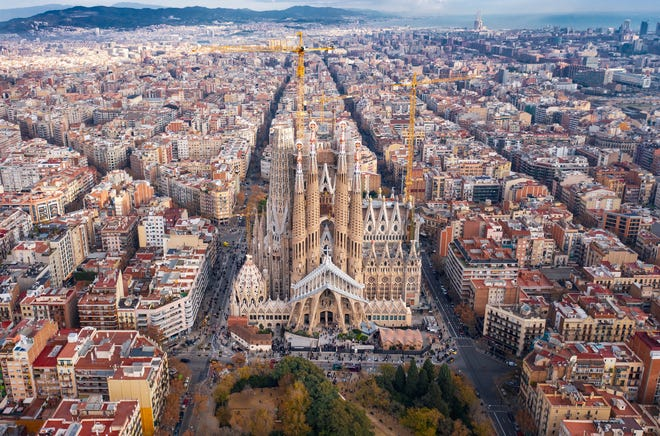 Six of Sagrada Familia's major towers have yet to be completed, including a main spire that will soar above the current ones. When completed, it will be the highest church in the world.
