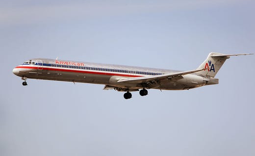 American Airlines Md 80 Planes Retired Super 80 Jets Head