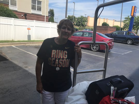 Linda Meritt, of Ormond Beach, Florida, evacuated Hurricane Dorian before Labor Day and had to stay in South Carolina because of its slow speeds. Linda and her husband, Sam, will have been displaced for 12 days when they go home.