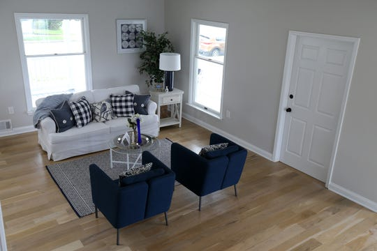 Peggy Ryan Marchese, owner of Upstaged, the Tinton Falls business which offers home staging services, shows off some of her designs at a client's home at 202 First Ave., Belmar, NJ Thursday, September 5, 2019.